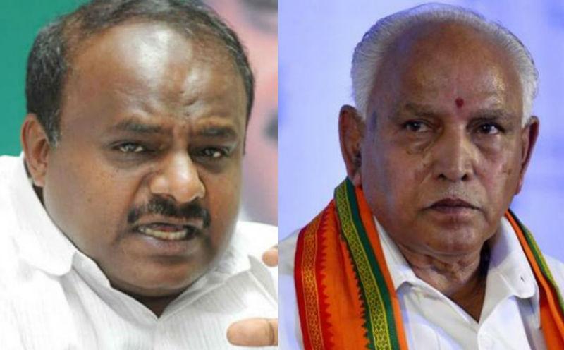 कर्नाटक में सरकार बनाने के दो दावेदार, येदियुरप्पा के 15 मिनट बाद कुमारस्वामी ने भी दावा पेश किया