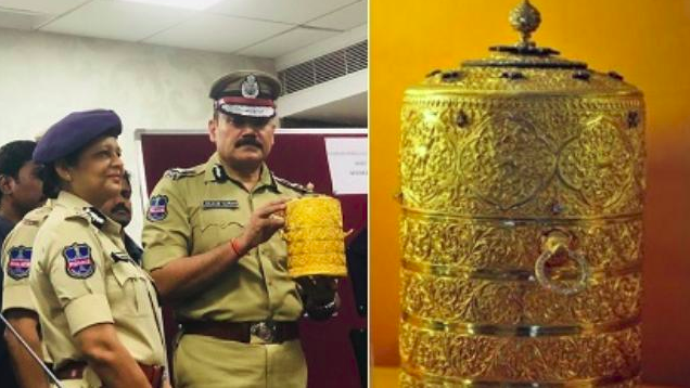 Thieves who stole gold tiffin box, cup worth over Rs 100 crores from Nizam Museum arrested