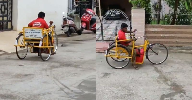 In an unexpected way abled Zomato conveyance fellow utilizes tricycle to convey nourishment