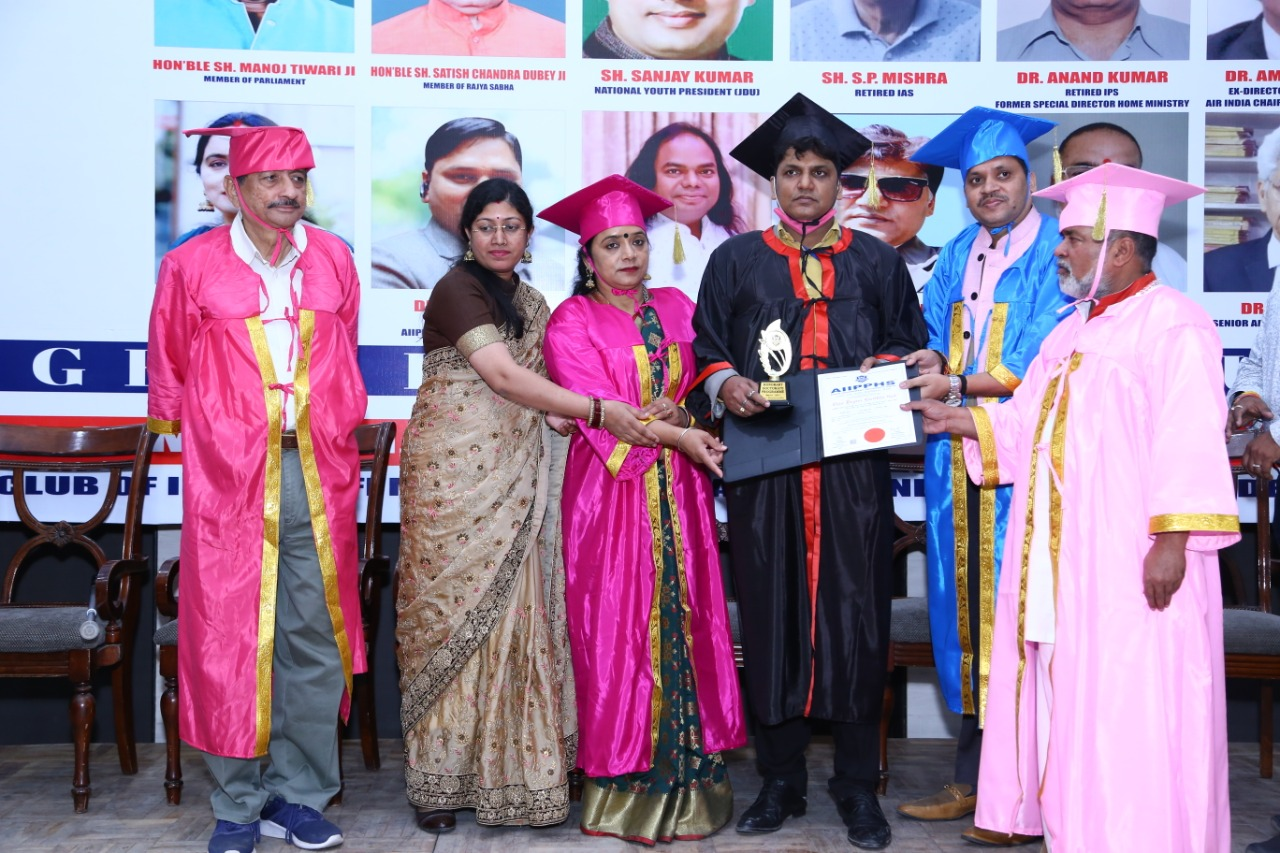 Ranjeet Kumar was Awarded his Doctorate in Business Administration